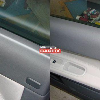 Mærke på dørbeklædning/Maling af plast.