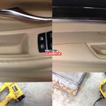 Slitage på dørbeklædning/Læderindfarvning.